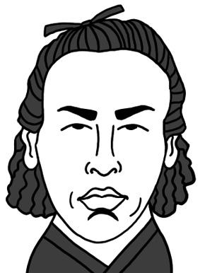坂本龍馬のイラスト画像